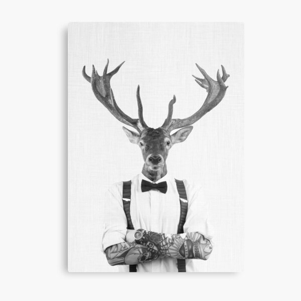 Modern Deer Man Metal Print
