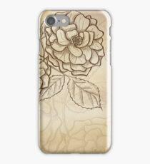 Sketch rose background iPhone Case/Skin