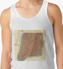 Camisetas de tirantes para hombre Vintage Map of Lower New York City (1807)