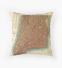 Cojín Vintage Map of Lower New York City (1807)