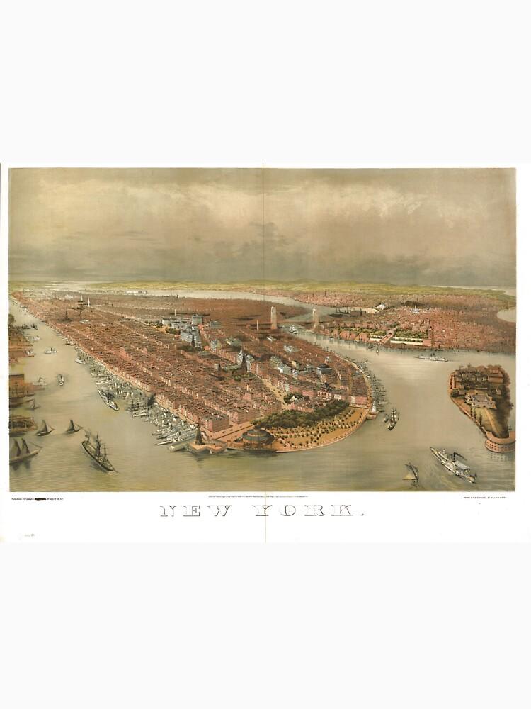 Vintage Pictorial Map of New York City (1874) de BravuraMedia