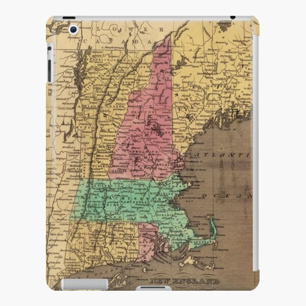 Vintage Map of New England (1836) iPad Snap Case