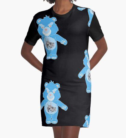 WereBear Blues Graphic T-Shirt Dress