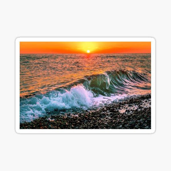 Sunset splash Sticker