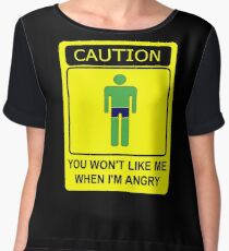 Don't Make Me Angry Chiffon Top