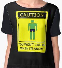 Don't Make Me Angry Chiffon Top