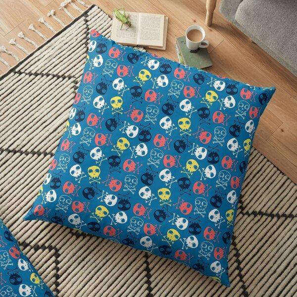 Cute skulls seamless pattern print design Floor Pillow