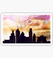 Sunset Cityscape  Sticker