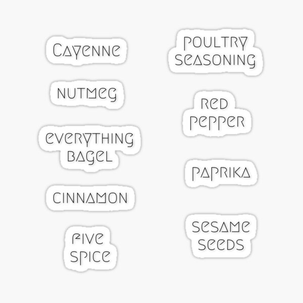 Sticker Pack - Megrim Font Pantry Organization 2 Sticker