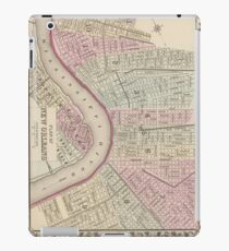 Vintage Map of New Orleans (1880) iPad Case/Skin