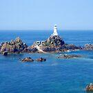 Corbiere lighthouse of Jersey by Arie Koene