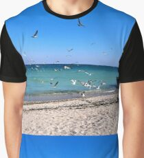 A flock of seagulls on a September day Graphic T-Shirt