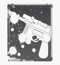 Han Solo Blaster Paint Splatter (White) iPad Case/Skin