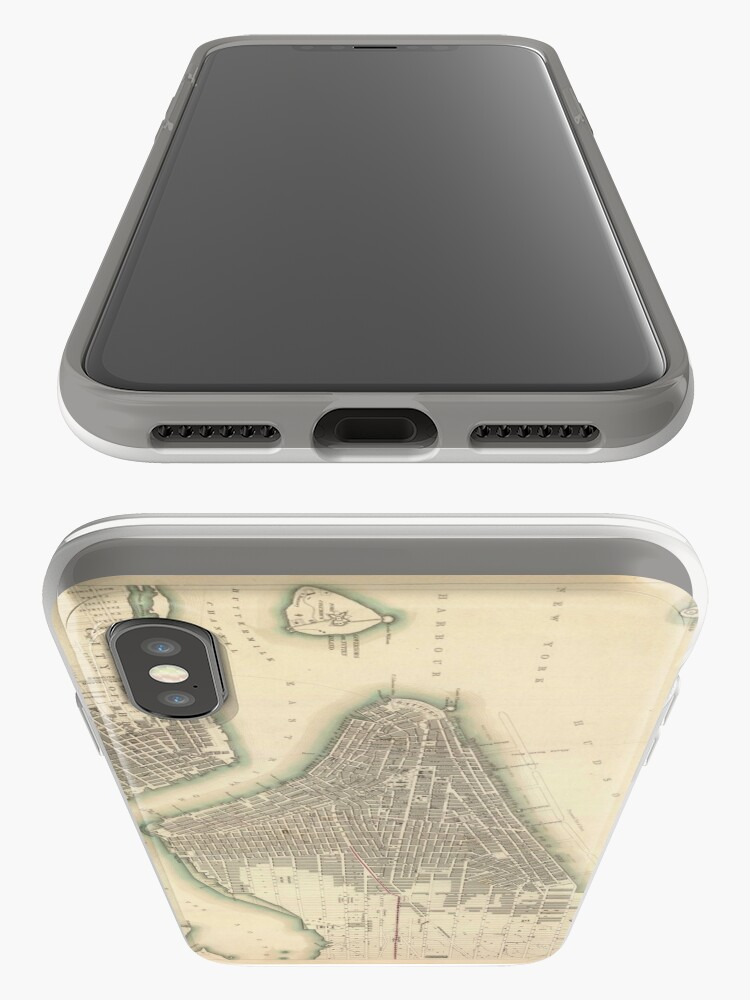 Vista alternativa de Funda y vinilo para iPhone Vintage Map of Lower New York City (1840)