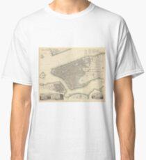 Camiseta clásica Vintage Map of Lower New York City (1840)