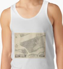 Camisetas de tirantes para hombre Vintage Map of Lower New York City (1840)