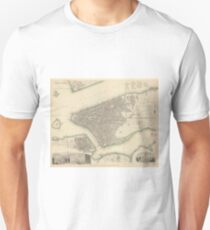 Camiseta unisex Vintage Map of Lower New York City (1840)