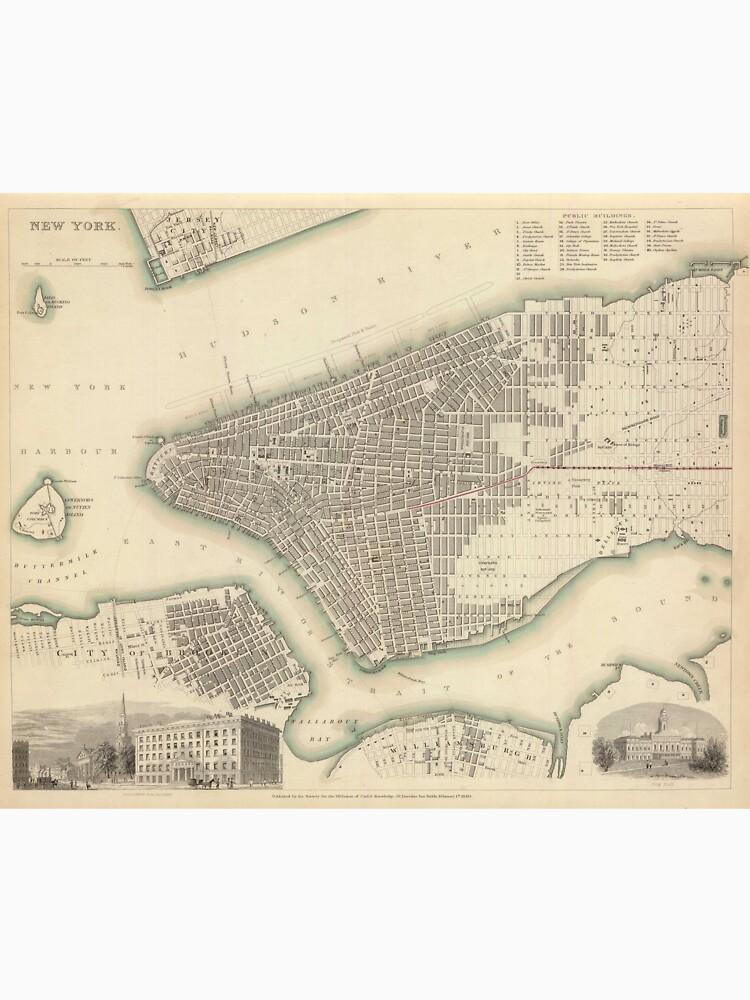 Vintage Map of Lower New York City (1840) de BravuraMedia