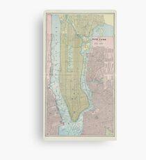 Lienzo Mapa vintage de la ciudad de Nueva York (1901)