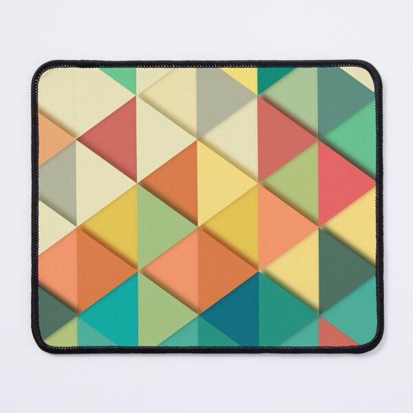 Geometric colorful 3D Design Mouse Pad