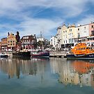 Panoramic view of Ramsgate Harbour by John Gaffen
