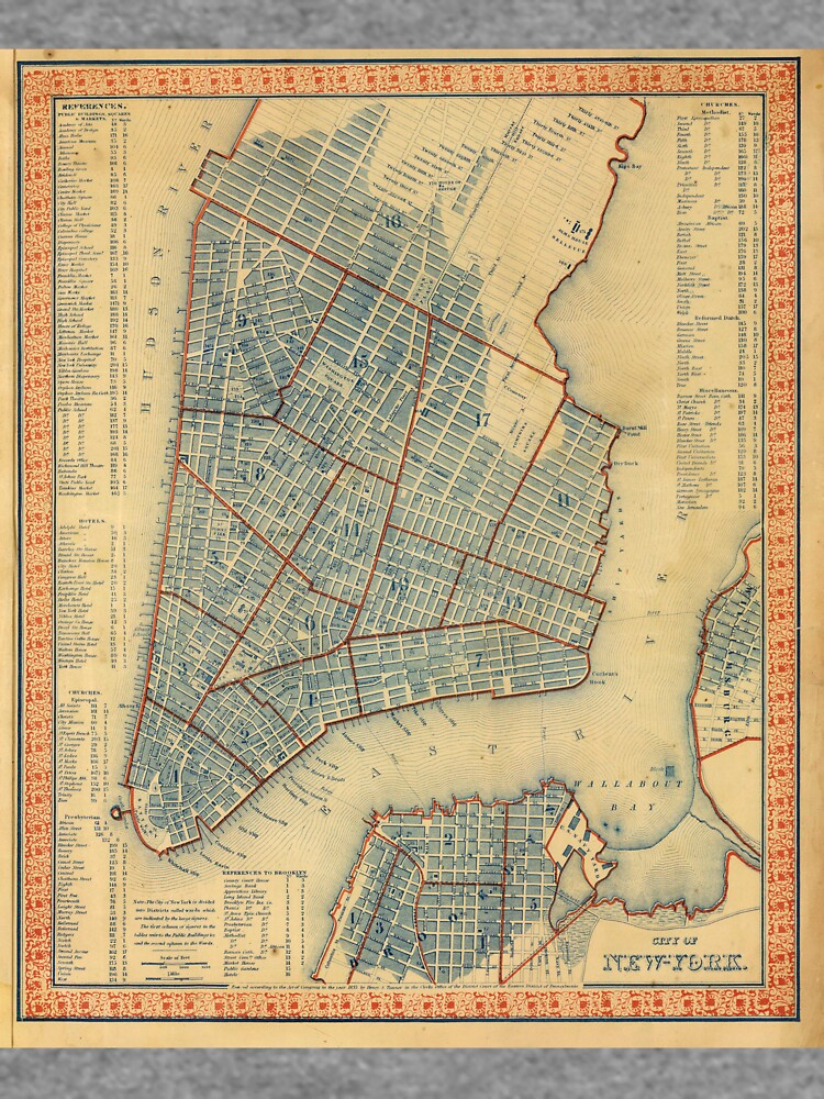 Vintage Map of New York City (1846) de BravuraMedia