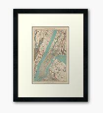 Lámina enmarcada Mapa vintage de la ciudad de Nueva York (1890)