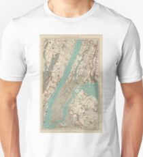 Vintage Map of New York City (1890) Unisex T-Shirt