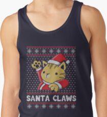 Xmas ugly sweater Cat Santa Claws Tank Top