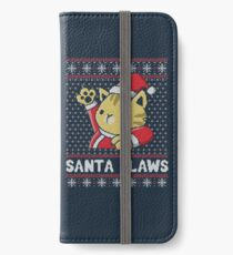 Xmas ugly sweater Cat Santa Claws iPhone Wallet/Case/Skin