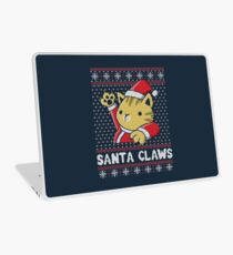 Xmas ugly sweater Cat Santa Claws Laptop Skin