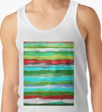 Watercolor Multicolor Abstract Background Tank Top