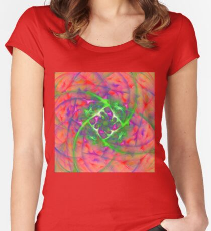 At the beginning of the rotation #fractal art Women's Fitted Scoop T-Shirt