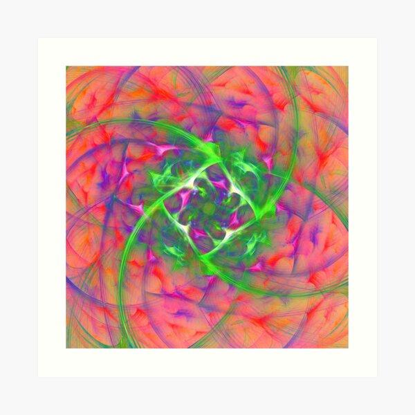 At the beginning of the rotation #fractal art Art Print