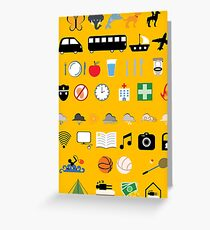 Travel icons Greeting Card