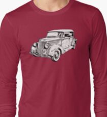 1936 Ford Phaeton Convertible Illustration  Long Sleeve T-Shirt