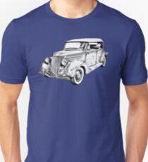 1936 Ford Phaeton Convertible Illustration  Unisex T-Shirt