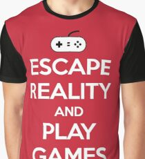 Escape Reality Gaming Quote Graphic T-Shirt