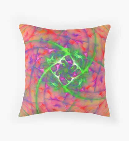 At the beginning of the rotation #fractal art Throw Pillow