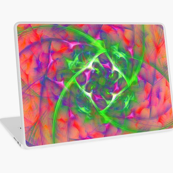 At the beginning of the rotation #fractal art Laptop Skin
