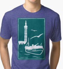 Trawlers - Home in Turquoise Tri-blend T-Shirt