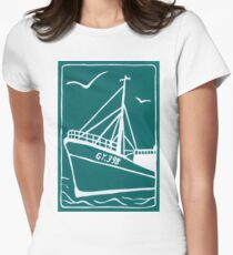 Trawlers Ross Tiger in Turquoise Womens Fitted T-Shirt