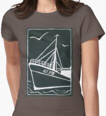 Ross Tiger in Grey Womens Fitted T-Shirt