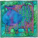 Patterned Hippo by Julie Nicholls