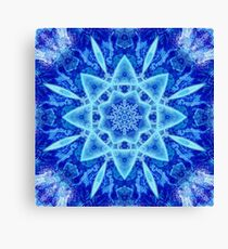 Ice Matrix Mandala Canvas Print