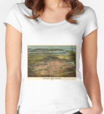 Vintage Pictorial Map of Newark NJ (1916) Women's Fitted Scoop T-Shirt