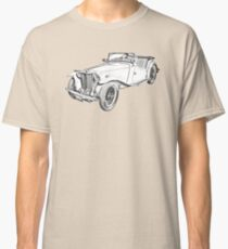 MG Convertible Antique Car Illustration Classic T-Shirt