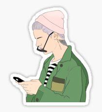 Justin Drawing Stickers Sticker