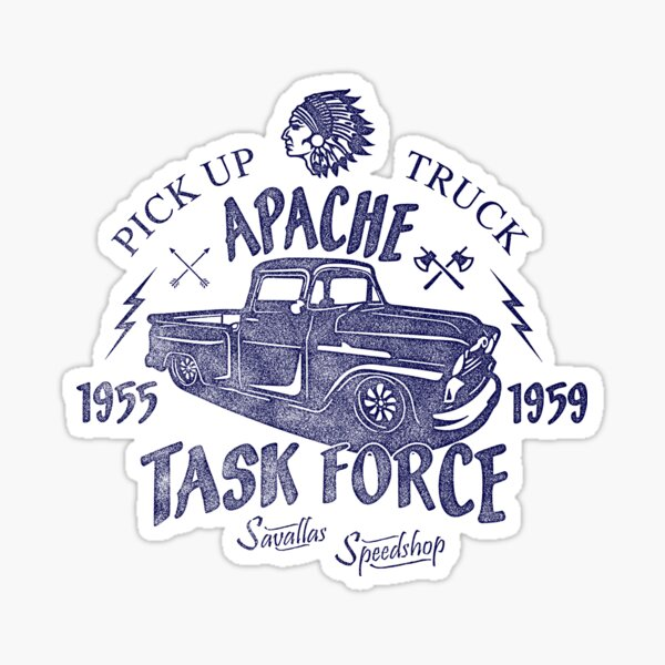 Chevrolet Apache Truck Task Force Series Sticker