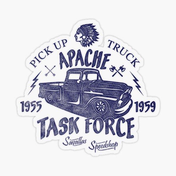 Chevrolet Apache Truck Task Force Series Transparent Sticker